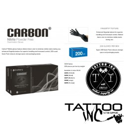 Gloves Tattoo Black Nitrile Carbon® 200 gloves per Box (Each)