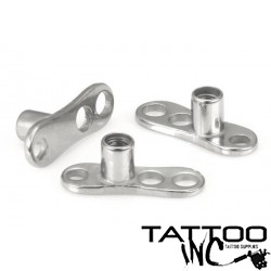 Dermal Anchor with 2mm Rise & 3-Hole Base (14g Titanium)